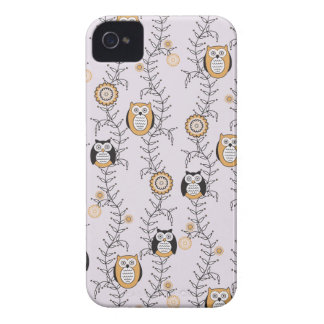 Modern Owls BlackBerry Bold Case-Mate Barely There iPhone 4 Case-Mate Cases