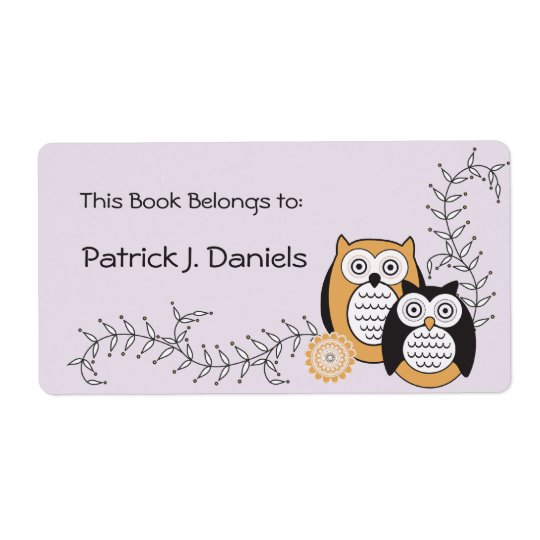 Modern Owls Bookplates