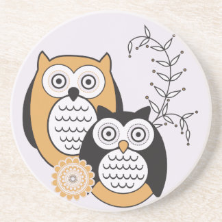 Modern Owls Coaster