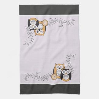 Modern Owls Kitchen Towel