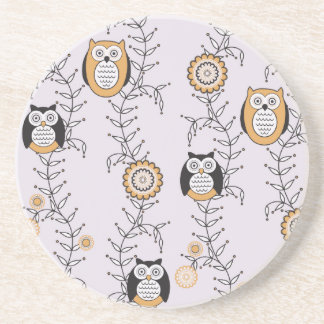 Modern Owls Patterned Coaster