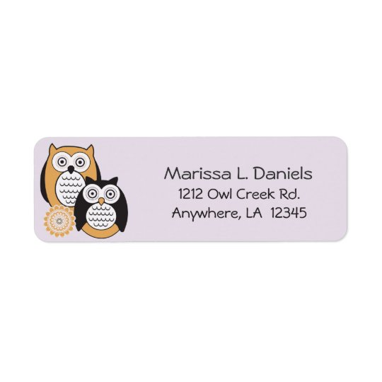 Modern Owls Return Address Labels