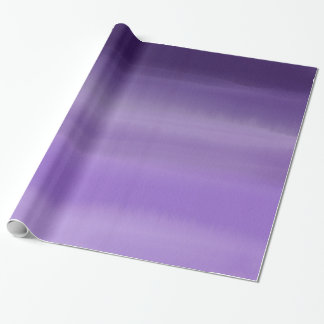 Modern painted purple lavender ombre watercolor wrapping paper