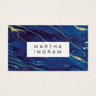 Modern Painting Creative Design Blue Abstract Business Card