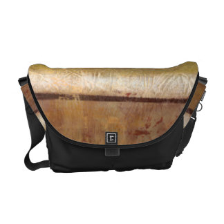 Modern Painting in Earth Tones by Norman Wyatt Messenger Bag