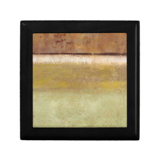 Modern Painting in Earth Tones by Norman Wyatt Small Square Gift Box
