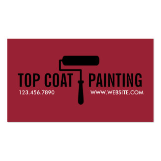 Modern Painting Painter Construction Business Card