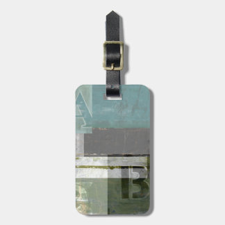 Modern Painting with Assorted Letters Bag Tag
