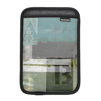 Modern Painting with Assorted Letters iPad Mini Sleeve