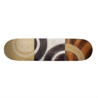 Modern Painting with Circular Patterns 20 Cm Skateboard Deck