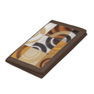 Modern Painting with Circular Patterns Trifold Wallet