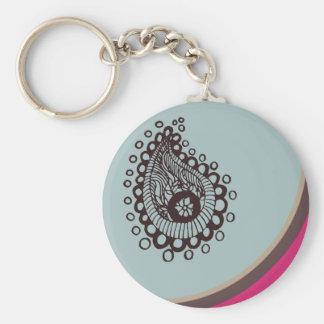 Modern Paisley Keychain