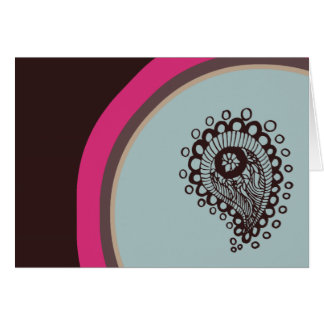Modern Paisley Note Card