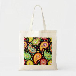 Modern Paisley Pattern - Diamond Studs Budget Tote Bag