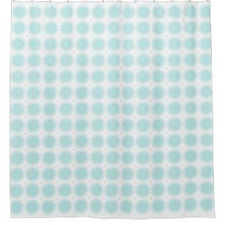 Modern-Pale-Blue-Sun-Rise--Designer-Bath-Decor Shower Curtain