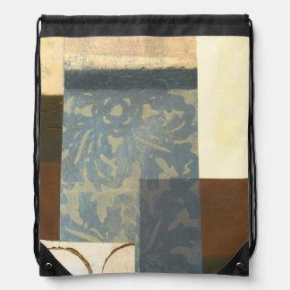 Modern Panel Painting Drawstring Bag