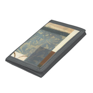 Modern Panel Painting Trifold Wallet