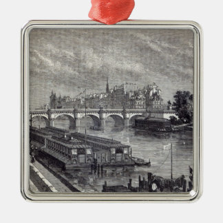 Modern Paris: The Pont Neuf, 1845 Christmas Ornament