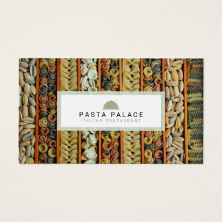 Modern Pasta Restaurant Business Card