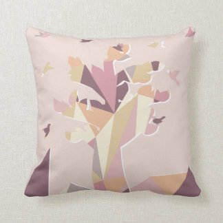 Modern Pastel Color Illustrate Tree Pillow
