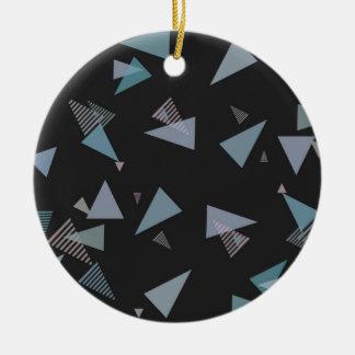 Modern pastel color triangle Ceramic Ornament