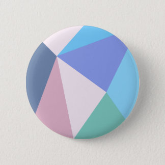 Modern pastel color triangle round button