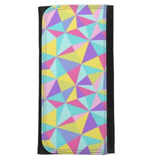 Modern Pastel Colorful Geometric Pattern Wallet For Women