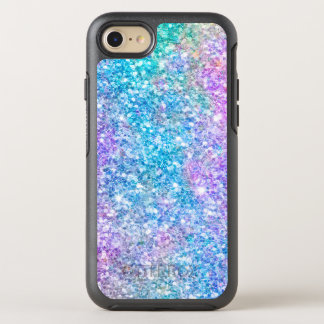 Modern Pastel Colors Colorful Glitter Print OtterBox Symmetry iPhone 7 Case
