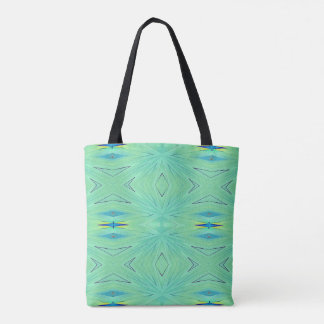 Modern Pastel Mint Green Airy Pattern Tote Bag