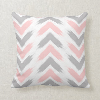 Modern pastel pink gray arrow brushstrokes pattern cushion