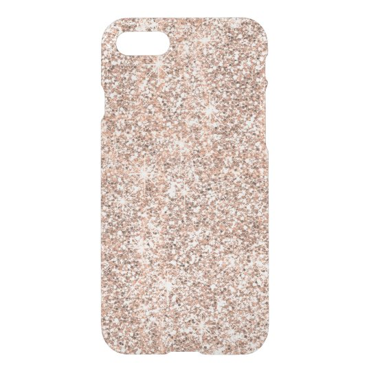 Modern Pastel Rose Gold Glitter Sparkles iPhone 8/7