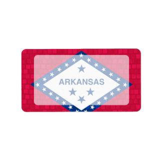 Modern Pattern Arkansan Flag Address Label