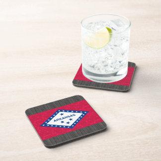 Modern Pattern Arkansan Flag Drink Coasters