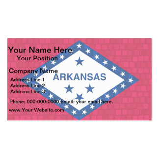 Modern Pattern Arkansan Flag Pack Of Standard Business Cards