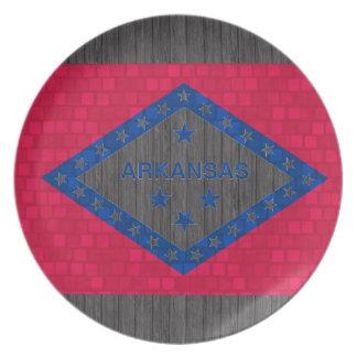Modern Pattern Arkansan Flag Dinner Plate