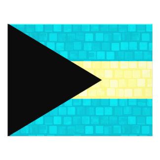 Modern Pattern Bahamian Flag 21.5 Cm X 28 Cm Flyer