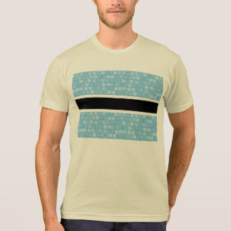 Modern Pattern Batswana Flag Tee Shirts