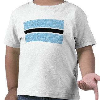Modern Pattern Batswana Flag T-shirts