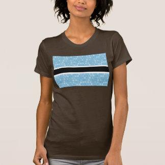 Modern Pattern Batswana Flag Tshirt