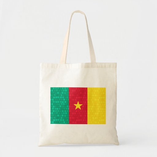 Modern Pattern Cameroonian Flag Tote Bags