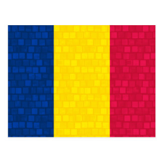 Modern Pattern Chadian Flag Post Cards
