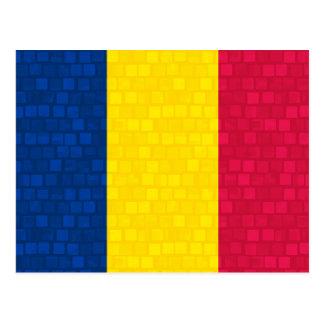 Modern Pattern Chadian Flag Postcard
