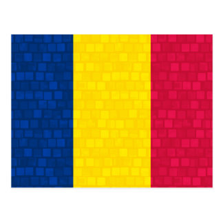 Modern Pattern Chadian Flag Postcards