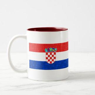 Modern Pattern Croatian Flag Coffee Mug