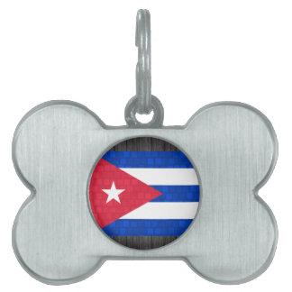 Modern Pattern Cuban Flag Pet Tag