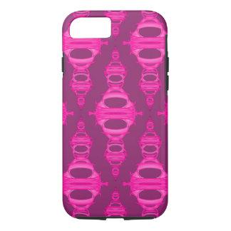 Modern Pattern Dividers 03 Hot Pink over Dark Pink iPhone 8/7 Case
