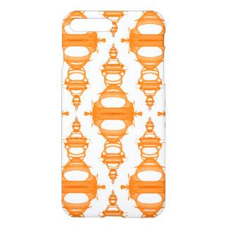 Modern Pattern Dividers 03 Orange Custom Backgrnd iPhone 8 Plus/7 Plus Case