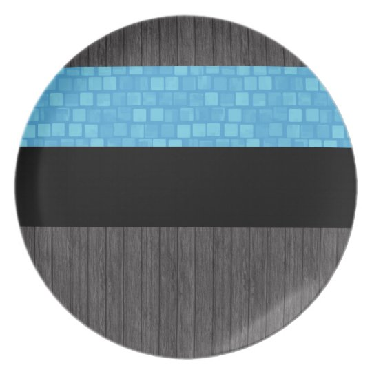 Modern Pattern Estonian Flag Plate
