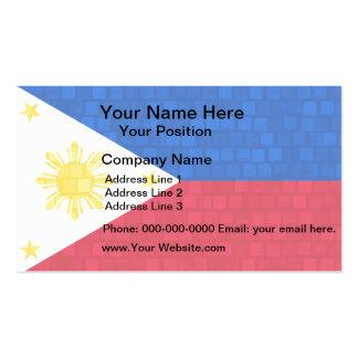 Modern Pattern Filipino Flag Business Card Template