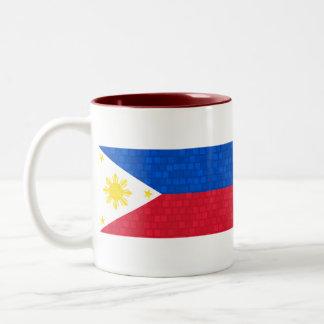 Modern Pattern Filipino Flag Mugs